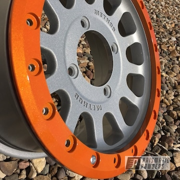 Wheels And B Locks Coated In Illusion Orange And Clear Vision