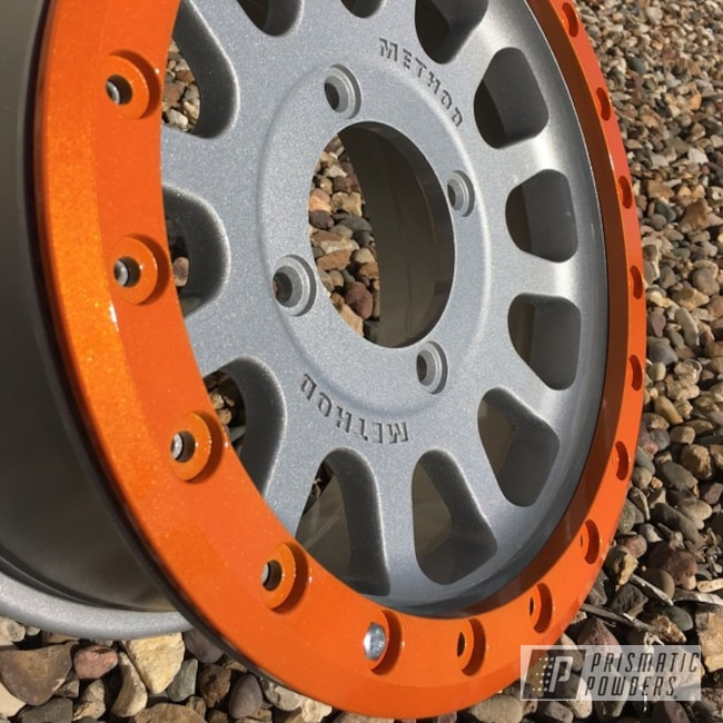 Powder Coating: Wheels,Clear Vision PPS-2974,UTV,Illusion Orange PMS-4620,Custom Can Am Maverick