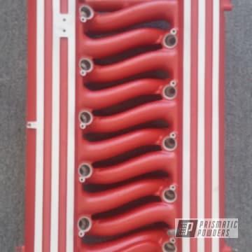 Custom Intake Coated In Desert Red Wrinkle