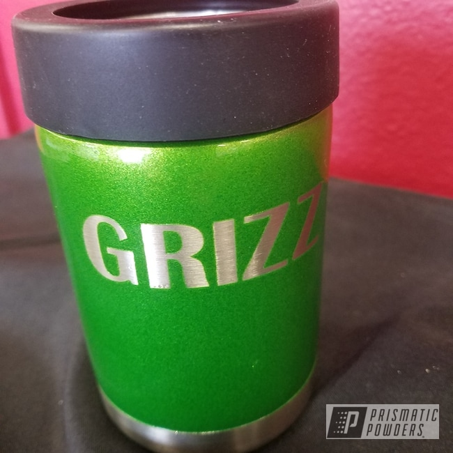 Powder Coating: Illusion Lime Time PMB-6918,Clear Vision PPS-2974,Two Coat Application,Custom Cup