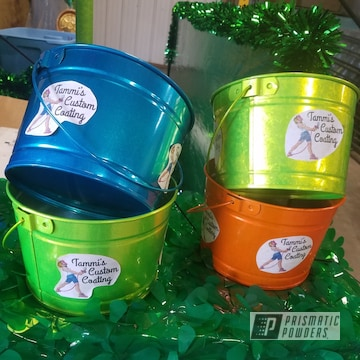 Custom Buckets Coated In A Variety Of Colors