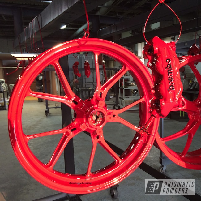 Powder Coating: Powder Coated Motorcycle Rims,Motorcycles,Astatic Red PSS-1738