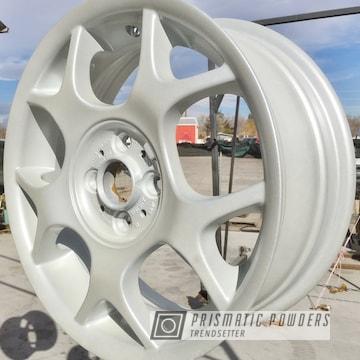 Mini Cooper Wheels Coated In White/silver