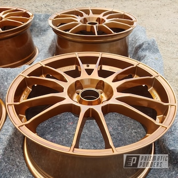 Wheels Coated In Transparent Copper Over Super Chrome
