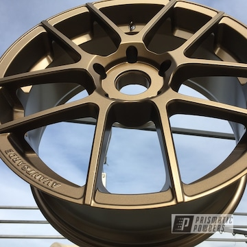 Custom Wheels Coated In Highland Bronze