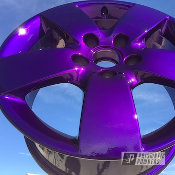 Rockin Rims Coated In Super Chrome, Illusion Purple And Clear Vision
