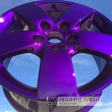 Rockin Rims Coated In Super Chrome, Illusion Purple And Clear Vision