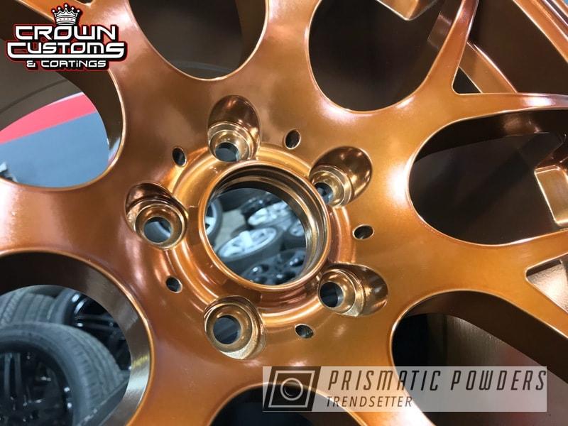 Powder Coating: Wheels,Automotive,Transparent Copper PPS-5162,SUPER CHROME USS-4482,VMR Wheels