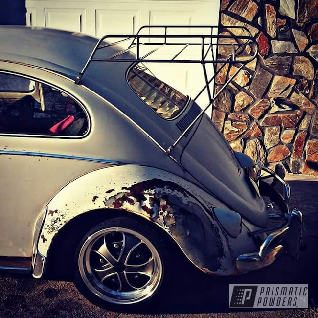 Powder Coating: Clear Vision PPS-2974,Luggage Rack,Volkswagen,Two Coat Application,STEALTH CHARCOAL PMB-6547,VW