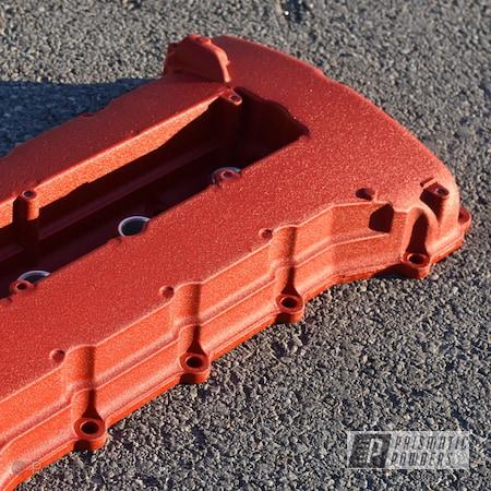 Powder Coating: Automotive,EVO Valve Cover,Epoxy Primer ESS-6518,Desert Red Wrinkle PWS-2762,Valve Cover