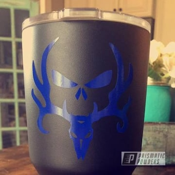 Custom Yeti Cup Coated In Southwest Blue And Black Jack