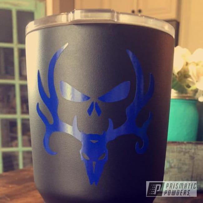 Powder Coating: BLACK JACK USS-1522,Southwest Blue PSS-0845,Custom Powder Coated Tumbler Cup,Powder Coated Stainless Steel Cup