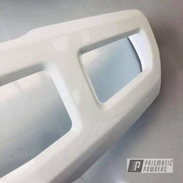 F-250 Front Bumper Coated In Polar White