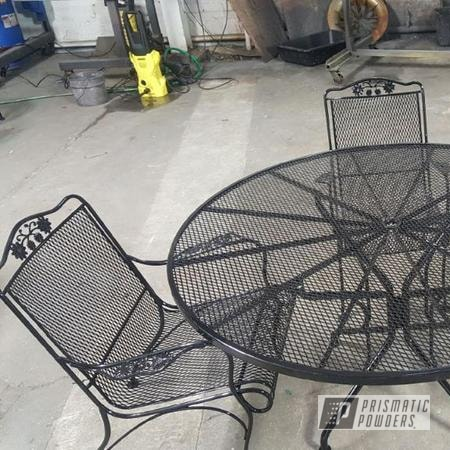 Powder Coating: Patio Furniture,Ink Black PSS-0106,Outdoor Furniture,Custom Outdoor Furniture,matte black,patioset,Furniture