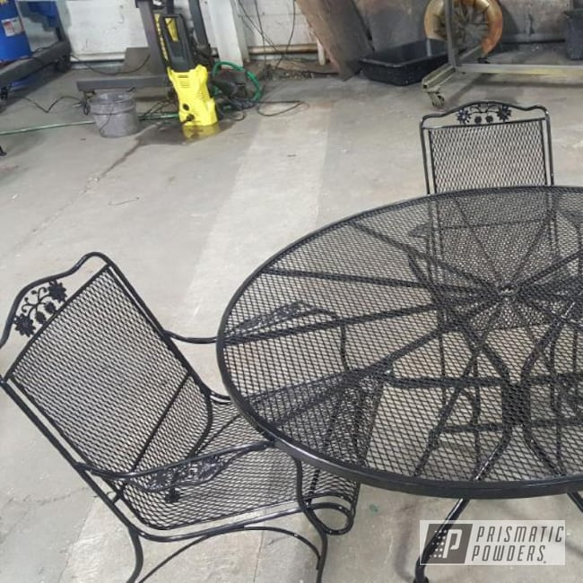 Powder Coating: Patio Furniture,Ink Black PSS-0106,Custom Outdoor Furniture,matte black,patioset,outdoor furniture,Furniture