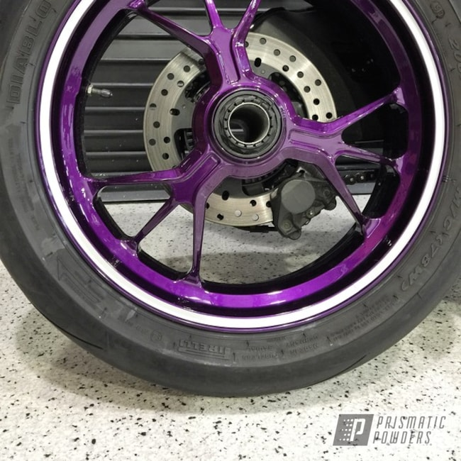 Powder Coating: Illusion Purple PSB-4629,Wheels,Clear Vision PPS-2974,motorcycle