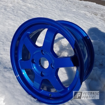 Custom Wheels In Illusion Blue-berg And Clear Vision
