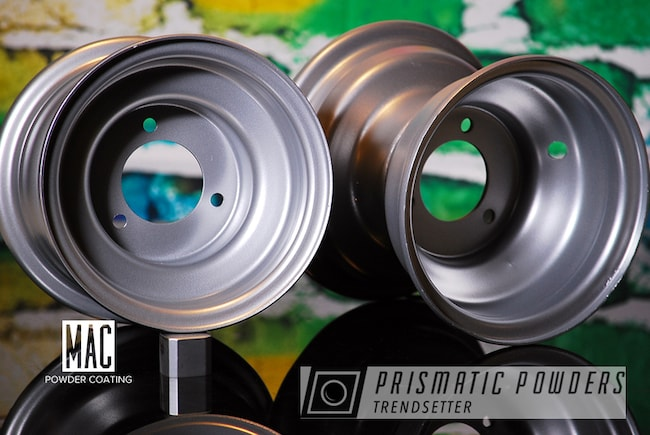 Powder Coating: Wheels,Porsche Silver PMS-0439,ATV,ATV Wheels,mac powder coating