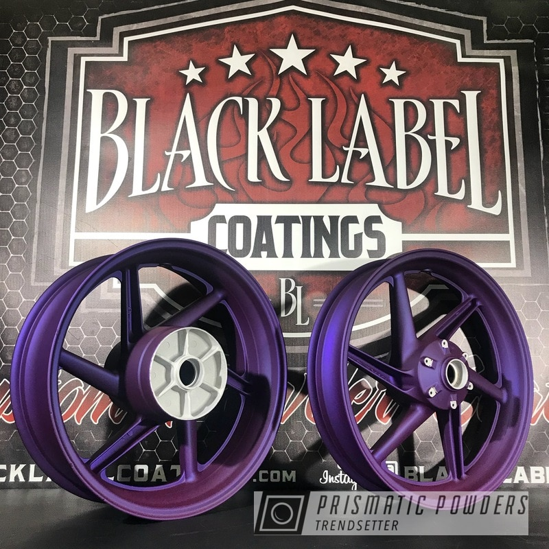 Honda Motorcycle Wheels Coated In Majestic Purple, Super Chrome And Casper Clear