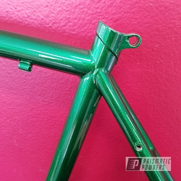 Bike Frame Coated In Illusion Money And Clear Vision