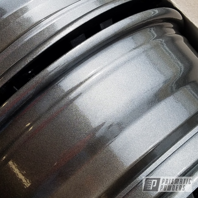 Custom Rims Coated In Kingsport Grey And Clear Vision