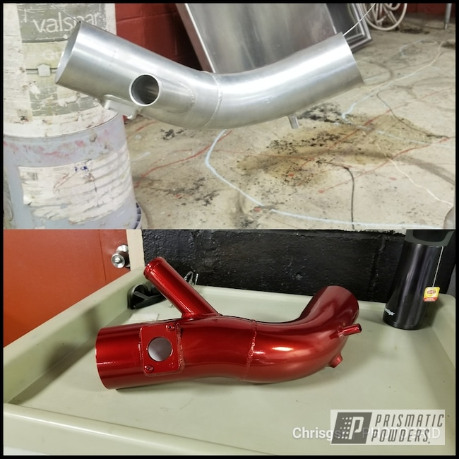 Powder Coating: Automotive,evo10,LOLLYPOP RED UPS-1506,Intake,Mitsubishi,Before and After