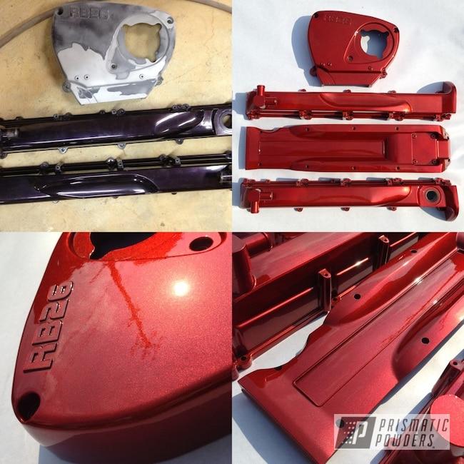 Powder Coating: Automotive,Clear Vision PPS-2974,Transparent Copper PPS-5162,RB26,Engine Parts