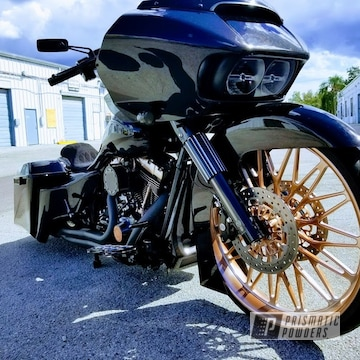 Bagger With Chrome And Polished Aluminum Shot With Flash Rust Top Coat