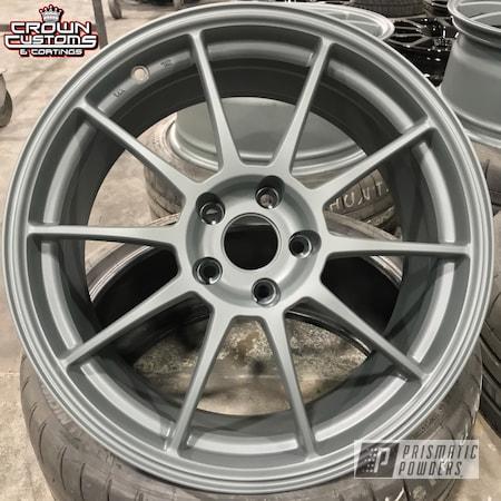 Powder Coating: Wheels,Matte Gravel Grey PSB-8165,Automotive,Rims