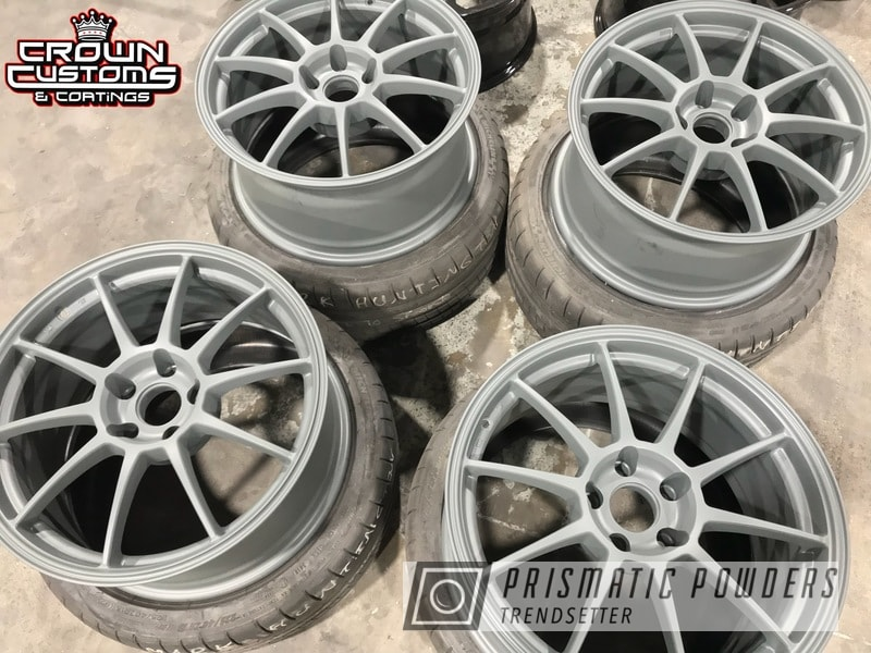 Powder Coating: Wheels,Matte Gravel Grey PSB-8165,Automotive,Rims