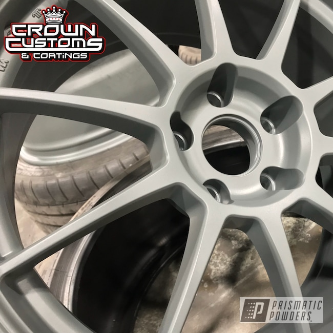 Powder Coating: Wheels,Matte Gravel Grey PSB-8165,Automotive