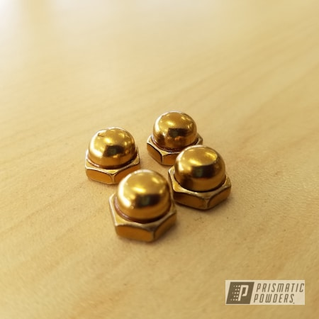 Powder Coating: Nuts and Bolts,Transparent Gold PPS-5139,Hardware,Miscellaneous