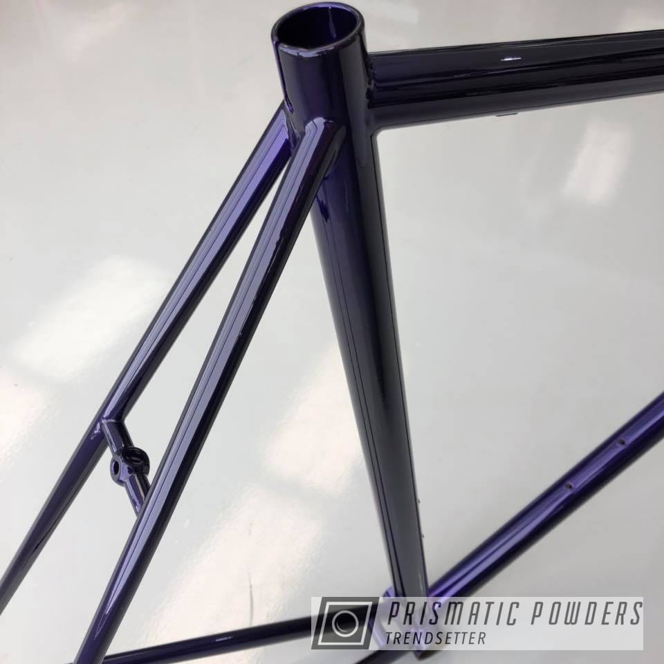Powder Coating: Bicycles,SUPER CHROME USS-4482,Bike Frame,Lollypop Purple PPS-1505,Frame