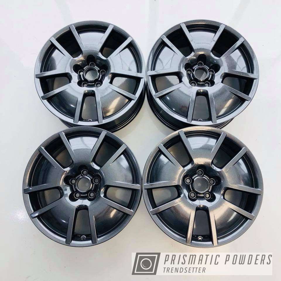 Powder Coating: Wheels,Automotive,Grey,VW,Powder coated VW wheels,Cadillac Grey PMB-6377