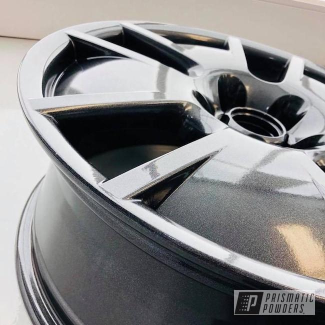 Powder Coating: Wheels,Automotive,Grey,VW,Powder coated VW wheels,Cadillac Grey PMB-6377