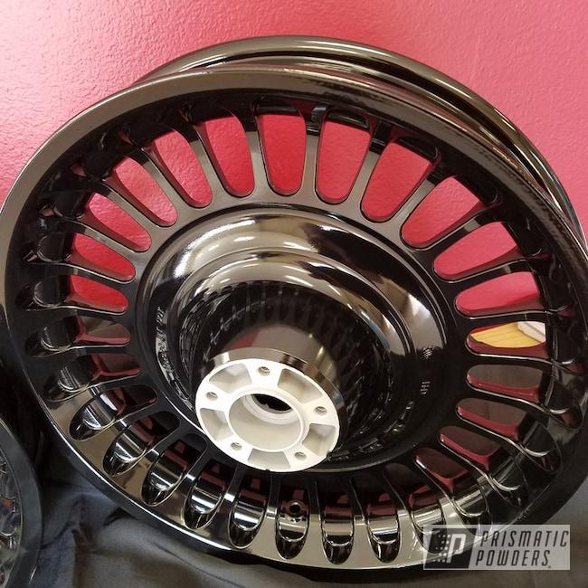 Powder Coating: Wheels,Harley Davidson,Rims,Ink Black PSS-0106,Motorcycles