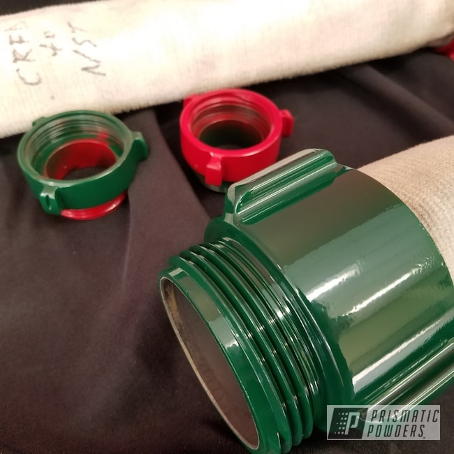 Powder Coating: Fire Hydrant Connector,RAL 6005 RAL-6005,RAL 3002 RAL-3002,Miscellaneous