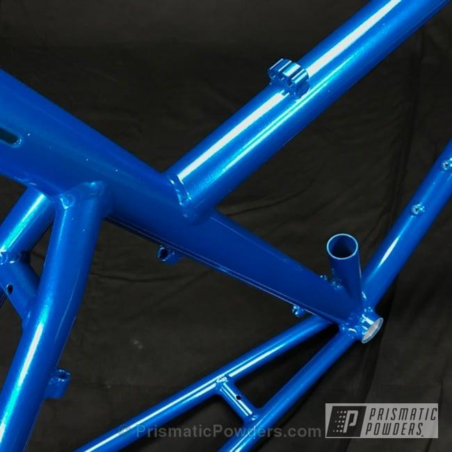 Powder Coating: Bicycles,Illusion Lite Blue PMS-4621,Solid Tone,Baby Rockstar Sparkle PPB-6627,Custom Bicycle Frame,RANS Bikes