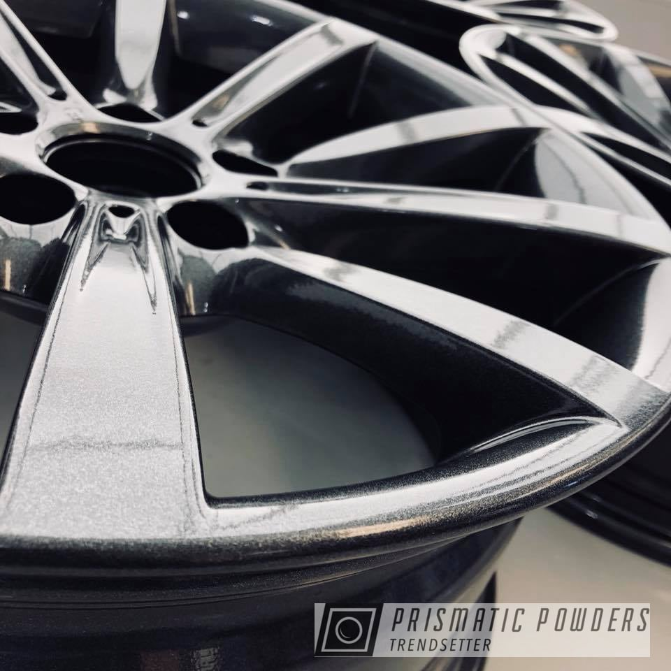 Powder Coating: Wheels,Automotive,BMW,Metallic Powder Coating,Cadillac Grey PMB-6377,grey