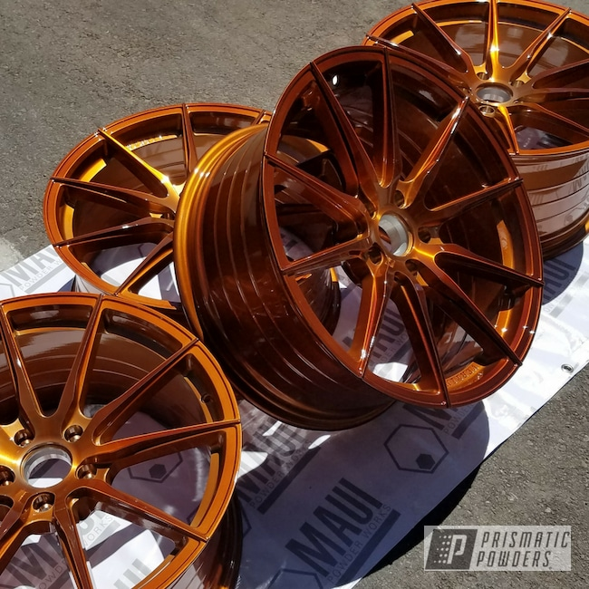 Powder Coating: Wheels,Automotive,Lexus,Transparent Copper PPS-5162,Rims,20' Wheels,Vertini,Powder Coated Lexus Wheels