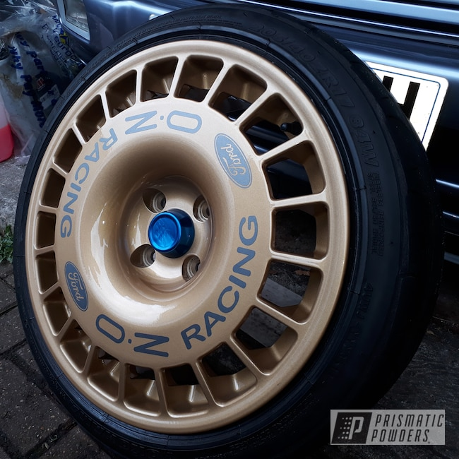 Powder Coating: Wheels,Automotive,Custom Wheels,Sierra Cosworth,Ford Sierra Cosworth,Ford,Prismatic Gold HMB-4137