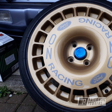 Ford Sierra Cosworth Wheels Coated In Prismatic Gold