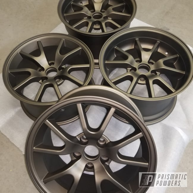 Wheels In Triple Bronze And Matt Clear