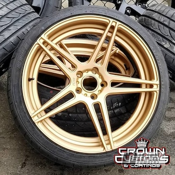 Adv 1 2-piece Wheels With Faces Done In Tomic Gold Ii