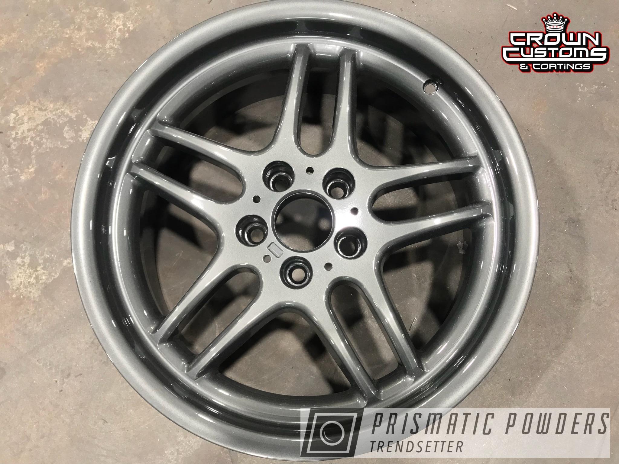 Powder Coating: Wheels,Automotive,Evo Grey PMB-5969,Clear Vision PPS-2974,BMW Wheels,BMW,Clear Vision Top Coat,BMW M5 Wheels,Powder Coated M5 BMW Wheels