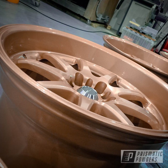 Powder Coating: Wheels,Automotive,Fireside Copper PMB-4934,Rims,Work Wheels