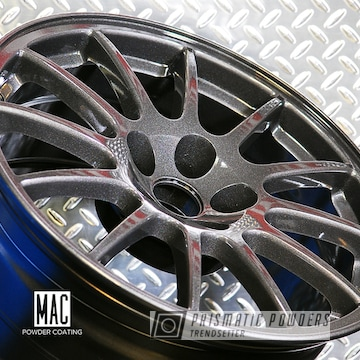 Powder Coated Mitsubishi Wheels Done In Graphite Charcoal
