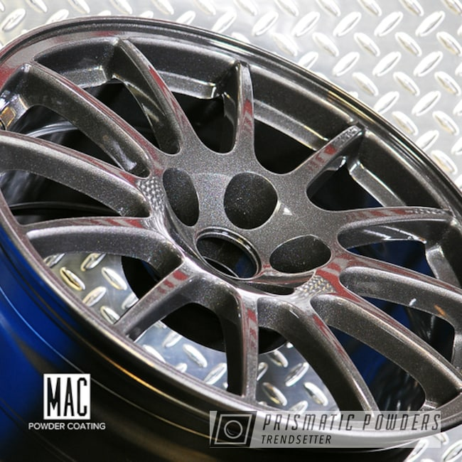 Powder Coating: Wheels,Automotive,Graphite Charcoal PMB-5458,Powder Coated Mitsubishi Wheels,Mitsubishi