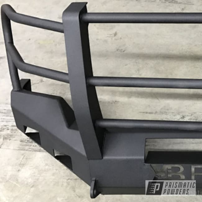 Powder Coating: Single Powder Application,Automotive,Wetstone Graphite PWB-2491,custom bumper,Solid Tone,Textured