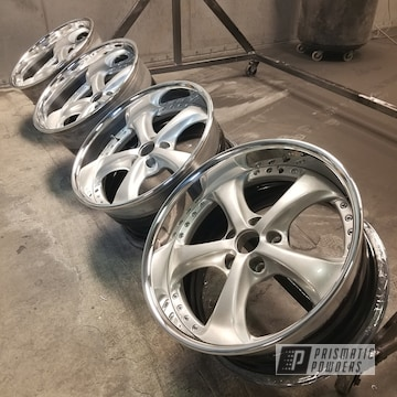 Volkswagen Wheels Done In Heavy Silver And Clear Vision